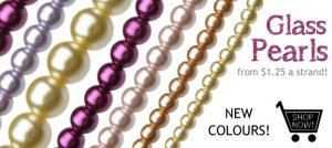 New Glass Pearls at My  Beads!